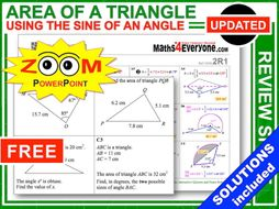 GCSE Revision (Area of a Triangle: Advanced)