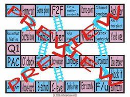 Slang at Work #1 Chutes and Ladders Board Game