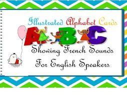 French alphabet pronunciation cards KS1/KS3/