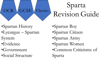 OCR Sparta Revision Guide