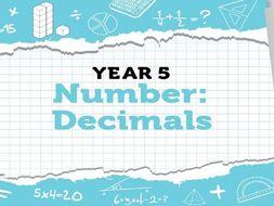 Year 5 Decimals: Week 3 Summer Term - Resources for White Rose Maths