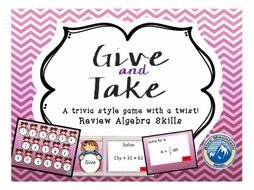 Give and Take Equation Review Game