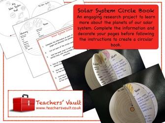 Solar System Circle Book