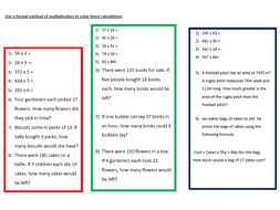 A Worksheet on Multiplication   (1)