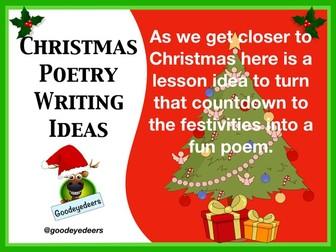 Christmas Poetry Writing  Ideas
