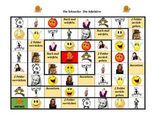Adjektive (German Adjectives) Schnecke Snail game