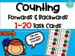 Counting Forwards and Backwards 1-100 Task Cards
