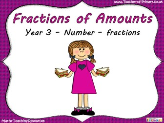 Fractions of Amounts - Year 3