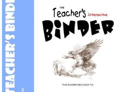 TEACHER'S BINDER - Interactive, often-used classroom forms, worksheets & templates for ALL teachers