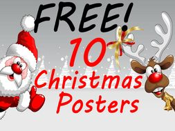10 free christmas posters to brighten up any primary school