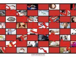 Antonyms Checker Board Game
