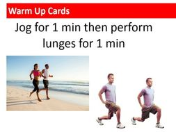 Warm up cards for PE