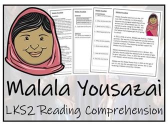 LKS2 Malala Yousafzai Reading Comprehension Activity