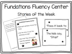 Fundationstastic Fluency Center 143 pages! Stories of the Week Activity