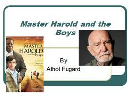 an analysis of athol fugards play master harold The play revolves around sam and willie and their relationship with hally and the boys study guide contains a biography of athol fugard, quiz questions, major themes, characters, and a full these papers were written primarily by students and provide critical analysis of master harold.