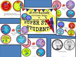 Awards Badges for the IB PYP Learner Profile and Attitudes