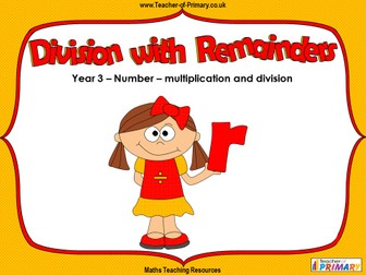 Division with Remainders - Year 3