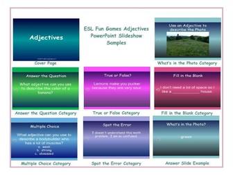 Adjectives PowerPoint Slideshow