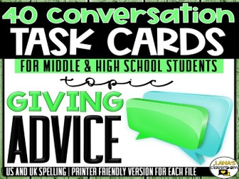 Conversation Starter Cards | Advice | Social Skills for Middle&High