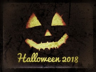 Halloween, Halloween, Halloween, HALLOWEEN QUIZ 2018. Slideshow and printable formats included.