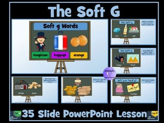 Soft G Sound and Words: PowerPoint Lesson