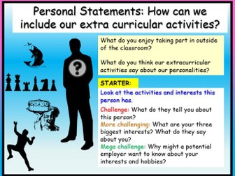 Personal Statements - Extra Curricular Activities