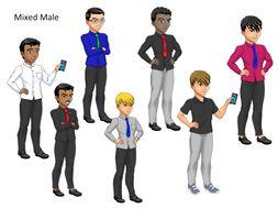 Mixed Male Avatars x 7
