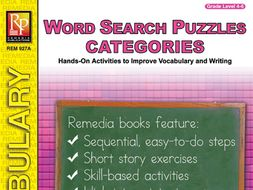 Word Search Puzzles: Categories