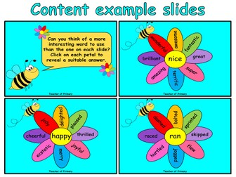 Wow! Words  - 14 slide PowerPoint with 12 worksheets