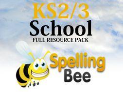 KS2/3 Spelling Bee (FULL RESOURCE PACK) - Powerpoint / Spellings / Certificates / Speech