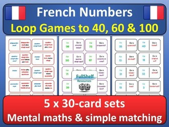 French Numbers to 100 Games