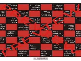 Word Forms Checker Board Game