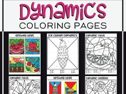 Colour By Dynamics Music Colouring Pages