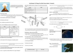 Tsunamis - 10 Things You Didn't Know About... Worksheet to support the BBC Doc with Iain Stewart