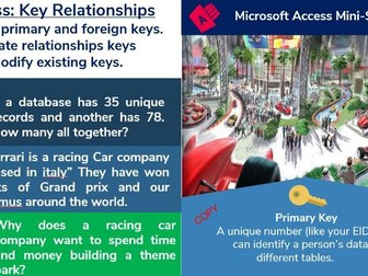2. Access Database: Relationships, Primary and Foreign Keys (2/6)