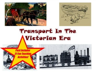 37 Pictures Of Victorian Era Transport (Sleighs, Trains, Boats and Buggies) + 31 Teaching Activities