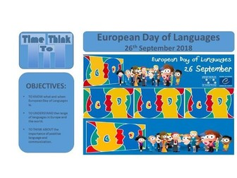 European Day of Languages Assembly.  Sept 2018. TTT