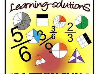 FRACTION FUN 2 - WORKBOOK + Screener + 50 Task Cards - Thirds/Sixths/Ninths/Twelfths