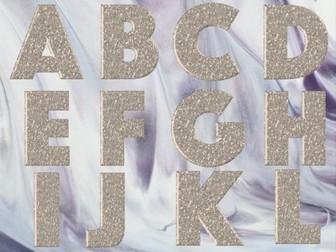 The Alphabet-Rose Gold Sparkle