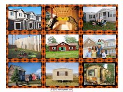 House or Apartment Hunting Cards 4 Pages = 36 Cards