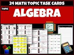 Algebra Maths Task Cards
