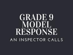 GRADE 9 MODELS AN INSPECTOR CALLS CHARACTER IMPORTANCES