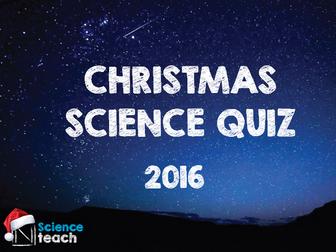 Christmas Science Quiz 2016
