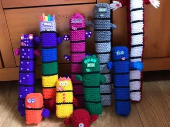 Number Blocks Knitting Pattern 1-10 (Beginners)