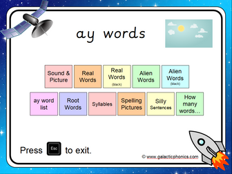 The 'ay' Phonics PowerPoint
