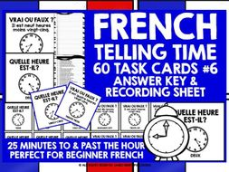 FRENCH TELLING TIME CHALLENGE CARDS #6
