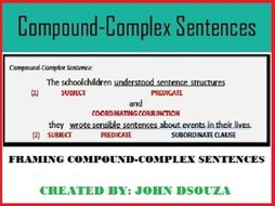 COMPOUND-COMPLEX SENTENCES LESSON AND RESOURCES