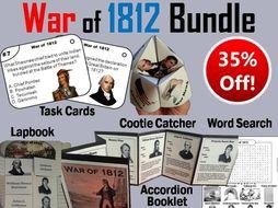 War of 1812 Task Cards and Activities Bundle
