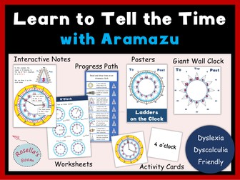 Learn to Tell the Time - Dyslexia  Dyscalculia Friendly
