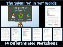 'wr' Digraph Worksheets